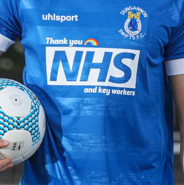 Closeup Dungannon Swifts Home Shirt 2020-21