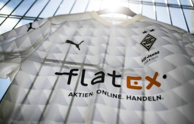 Closeup of Gladbach Home Shirt 20-21