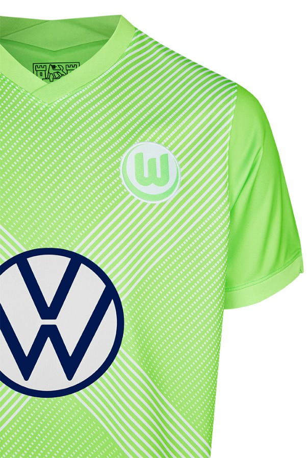 Closeup of Wolfsburg Home Shirt 2020 21