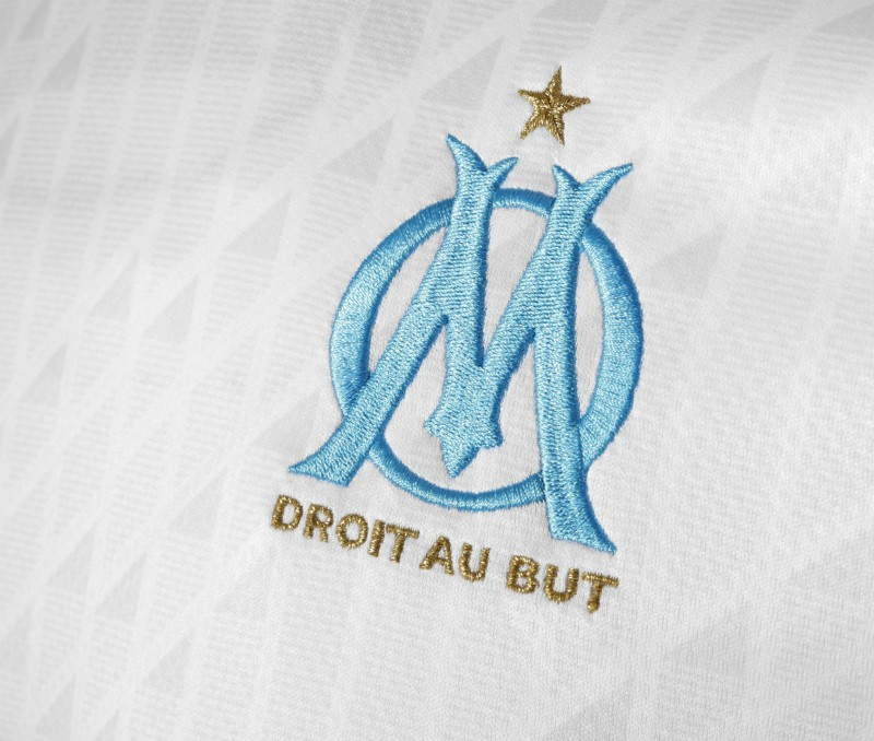 Closeup of new Marseille Jersey 2020-21