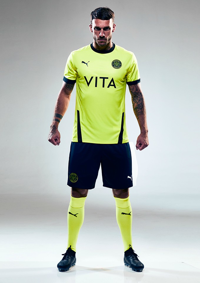 Fluoroscent Stockport County Third Jersey 2020 2021