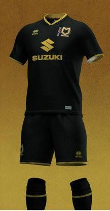 MK Dons Black Kit 20-21