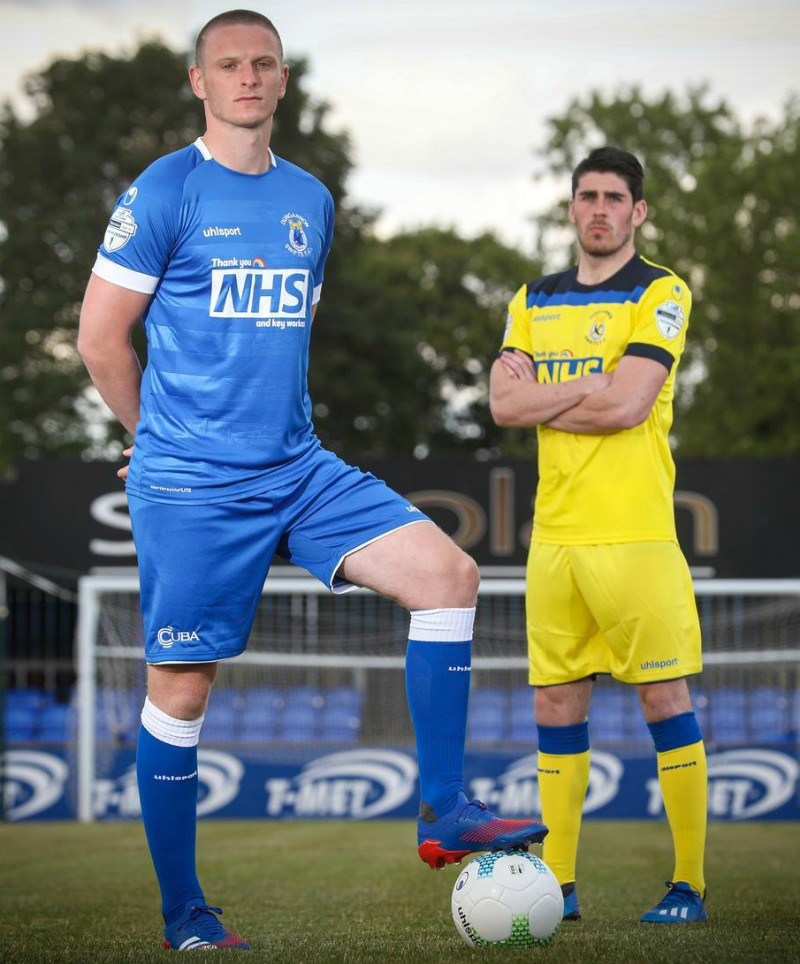 New Dungannon Swifts Jersey 2020 Uhlsport Thank You NHS
