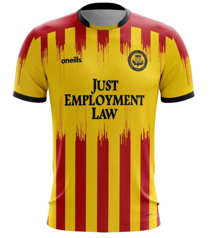 New Partick Thistle O'Neills Strip 2020 2021