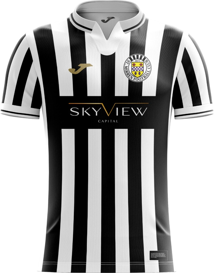 New St Mirren Strip 2020-21 Joma Home