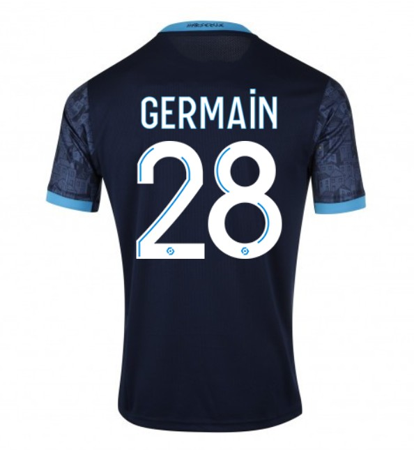 Numbers and Letters on new Marseille away kit 20-21