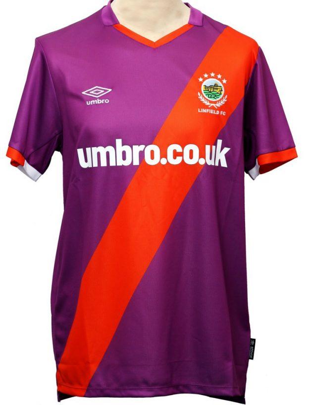 Purple Linfield FC New Away Jersey 2020-2021