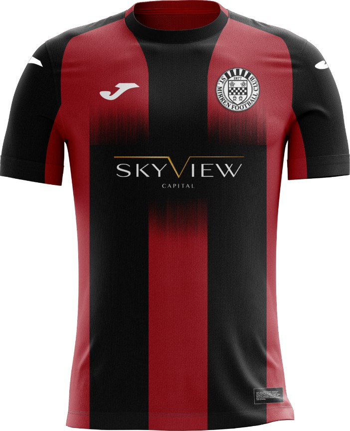 Red Black St Mirren Away Top 2020-2021