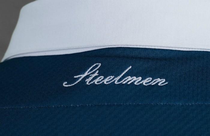 Steelmen on Back of Motherwell Shirt 20-21