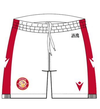 White Home Shorts Stevenage FC 20-21