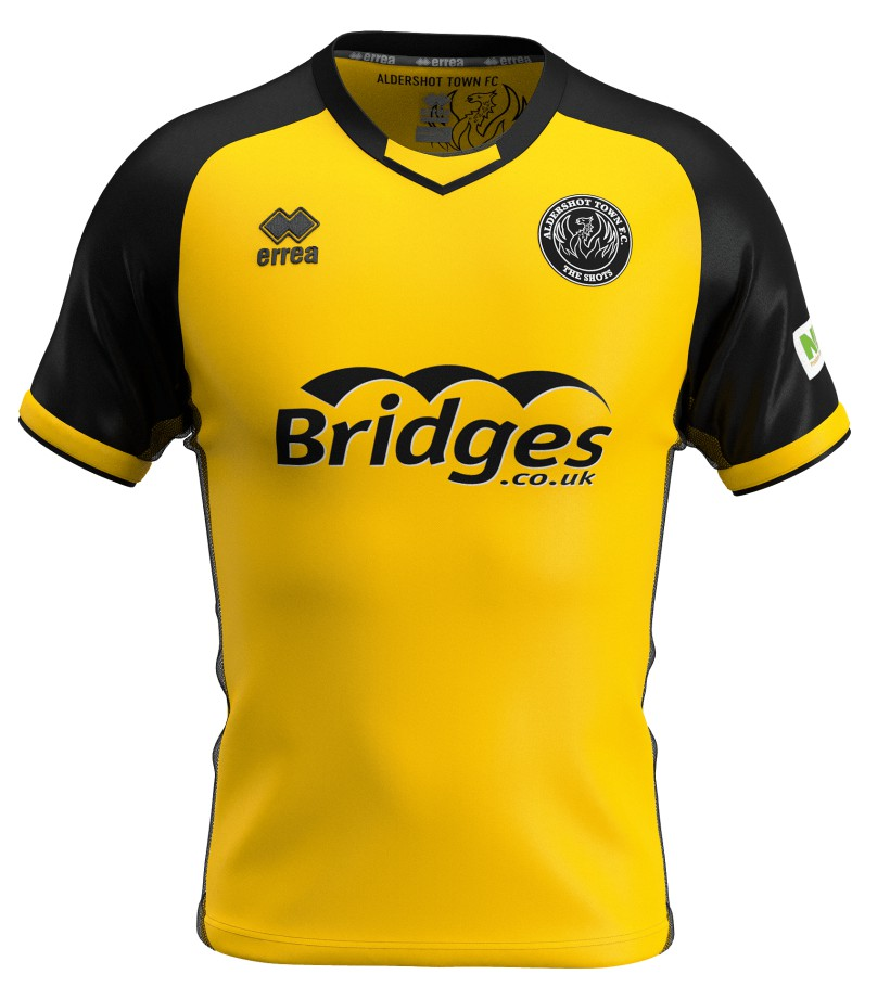 Yellow Aldershot Away Shirt 20-21 21-22