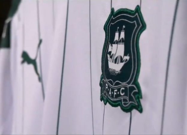 closeup of argyle away shirt 20-21