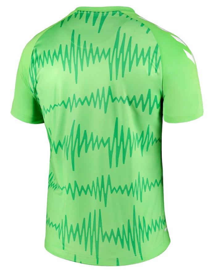 Back of Everton Green GK Shirt 20-21 Design