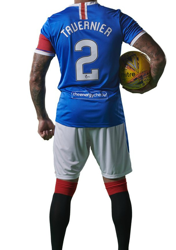 Back of New Rangers FC Shirt 2020-21 Number Lettering