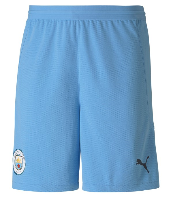 Blue MBlue Man City Shorts 2020 2021 Home Change