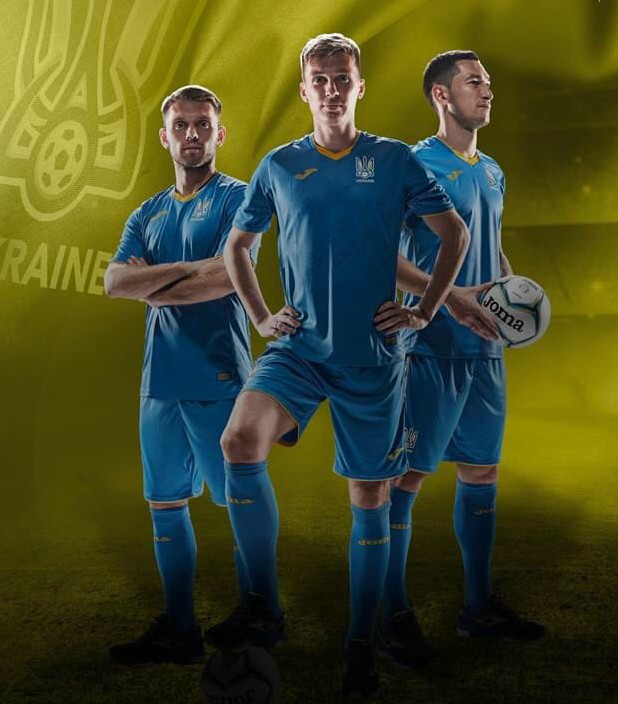 Blue Ukraine Away Shirt 2020 Joma
