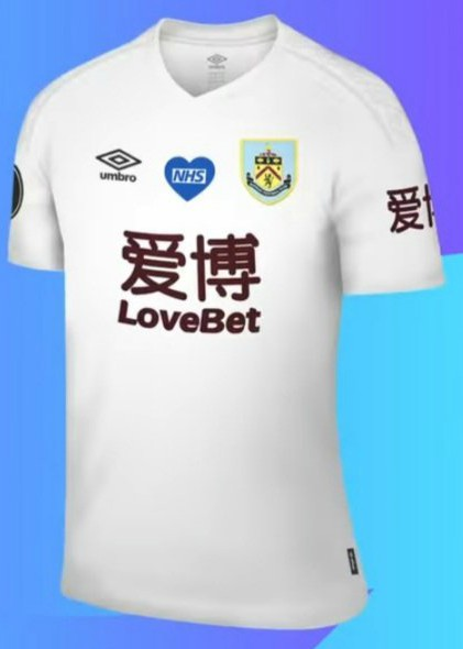 Burnley Special White Kit Fourth Shirt vs West Ham 2020