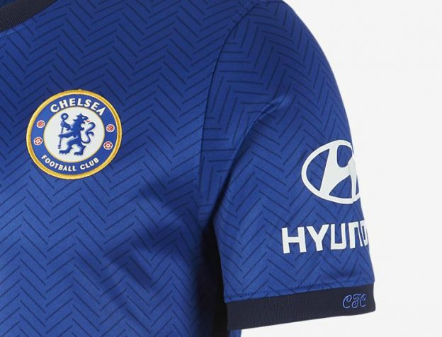 CFC on Chelsea Jersey Sleeve 20-21
