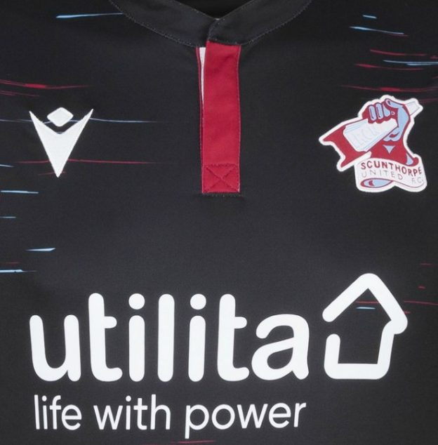 Closeup of Scunthorpe United Kit 2020-21