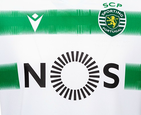 Closeup of Sporting Lisbon Shirt 20-21