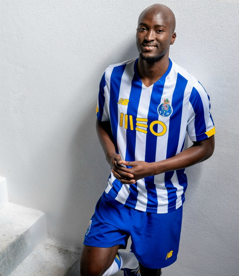 FC Porto Shirt with Yellow Meo Logo 2020-21