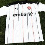 New Rotherham United Away Kit 2020-21 | RUFC alternate shirt with contrasting pinstripe design