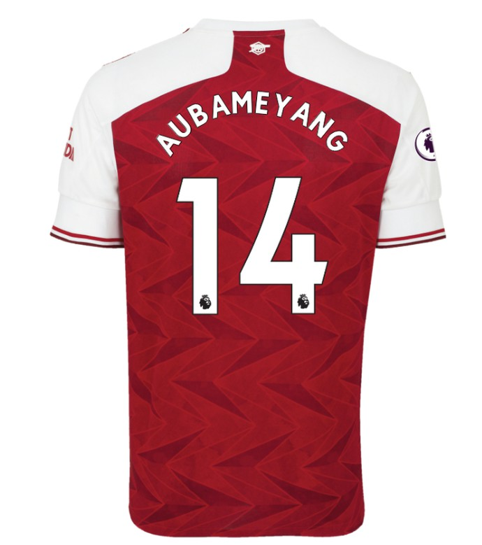 Premier League Font Arsenal Jersey 2020 21