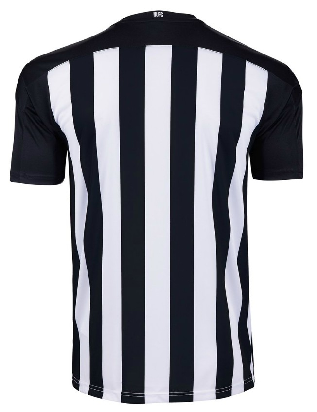 Stripes on Back of Newcastle Home Shirt 2020-21