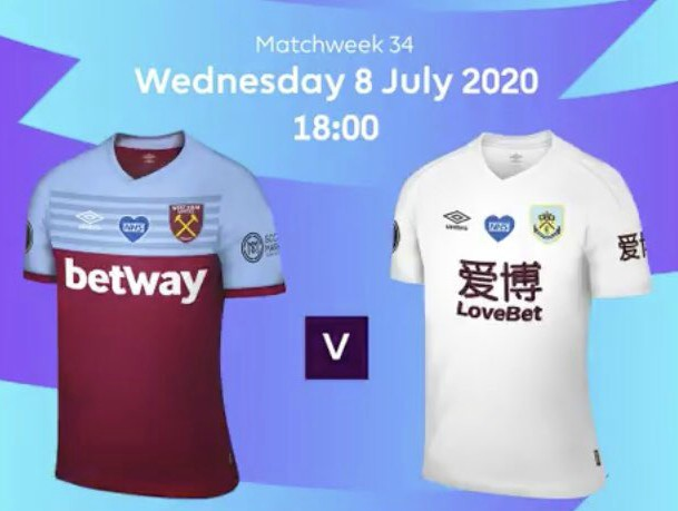 West Ham vs Burnley 2020