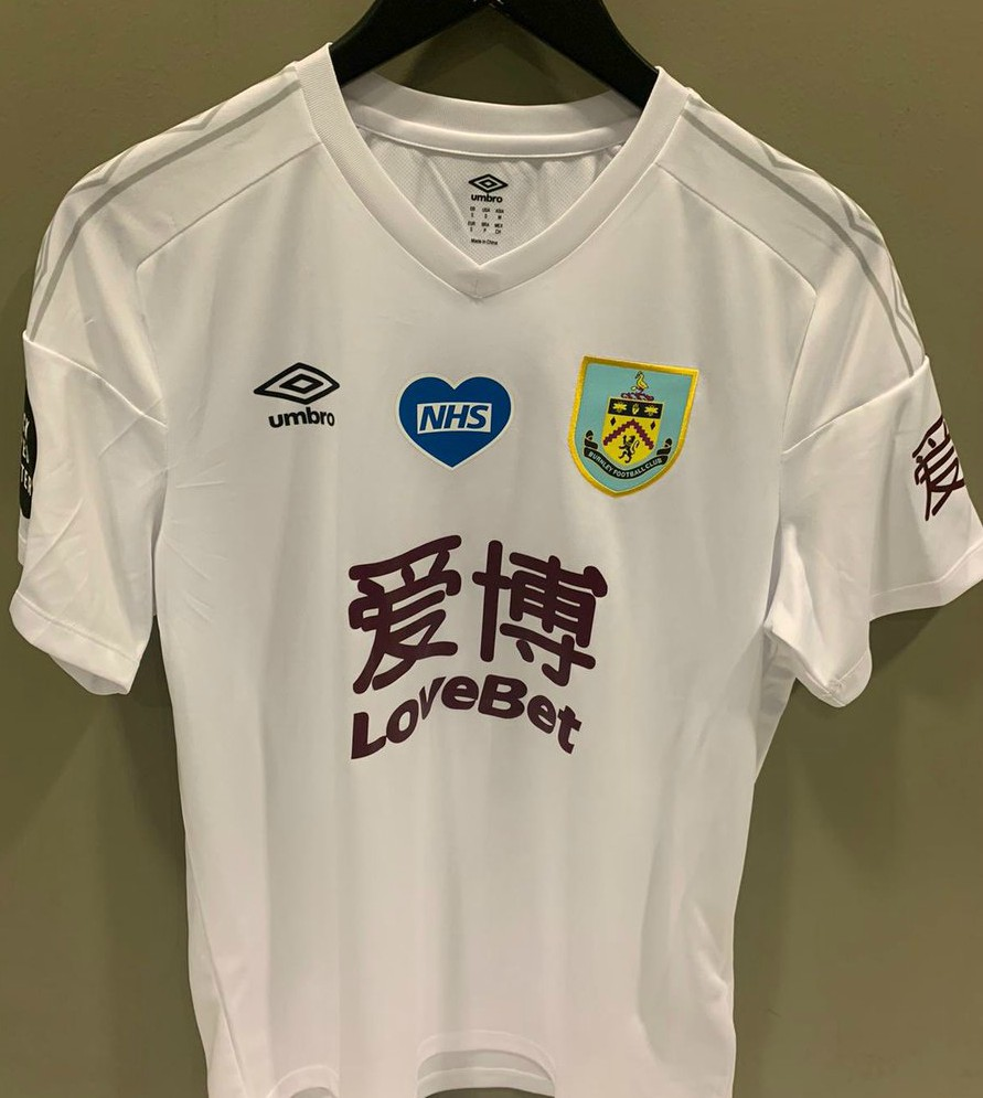 White Burnley Shirt 2020