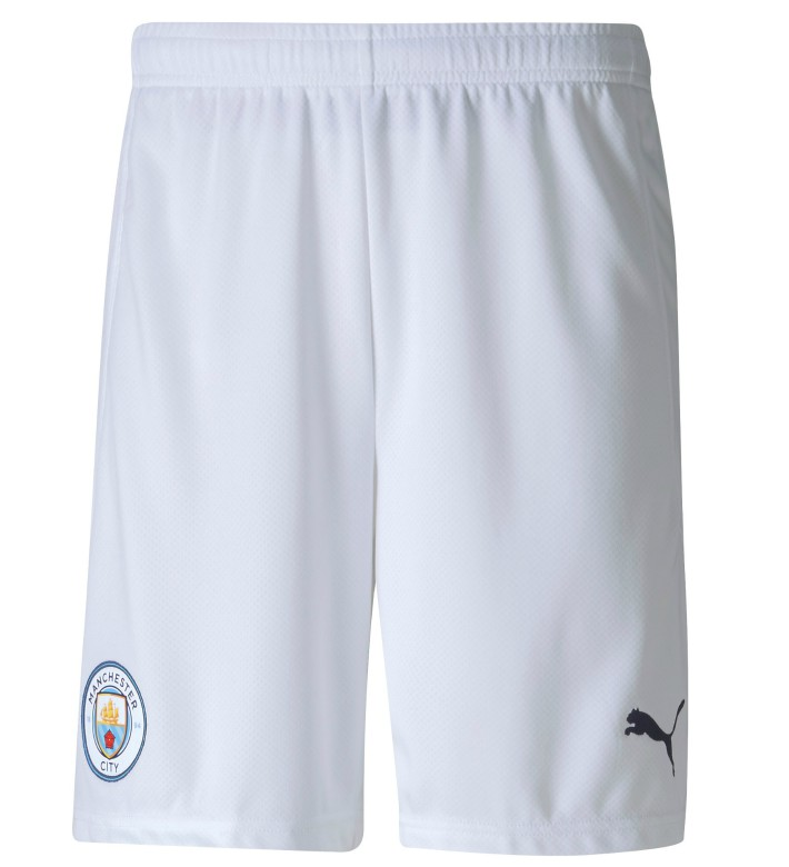 White Manchester City Home Shorts 20-21