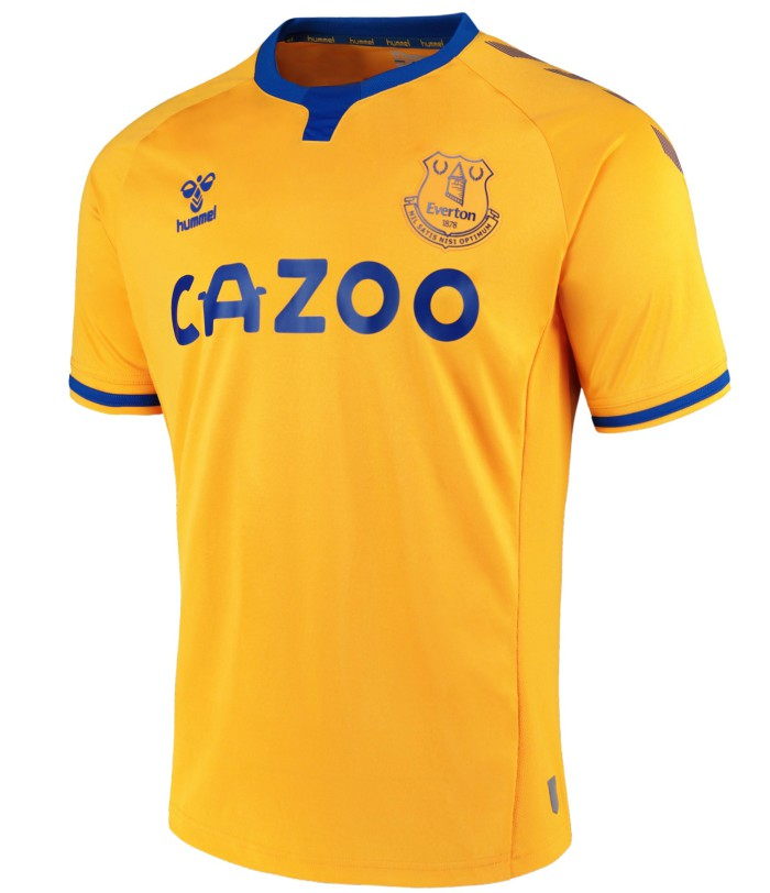 Amber Yellow Everton Away Kit 2020-2021