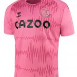 New Everton Amber Away Shirt 2020-21 | Pink EFC Alternate Goalkeeper Jersey by Hummel