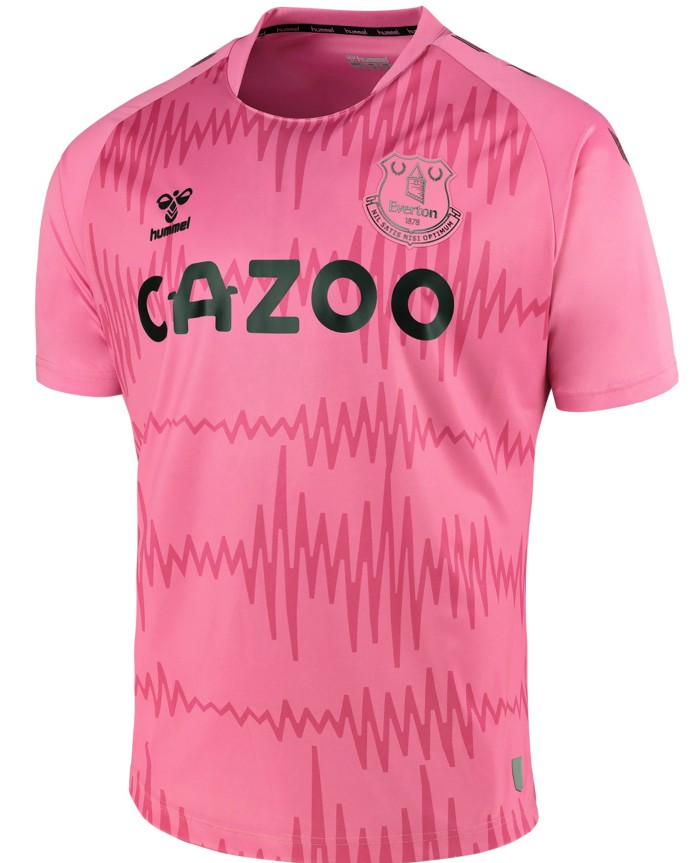 New Everton Amber Away Shirt 2020 21 Pink Efc Alternate Goalkeeper Jersey By Hummel Football Kit News