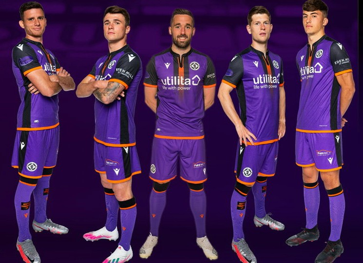 Purple Dundee United Away Kit 2020-21