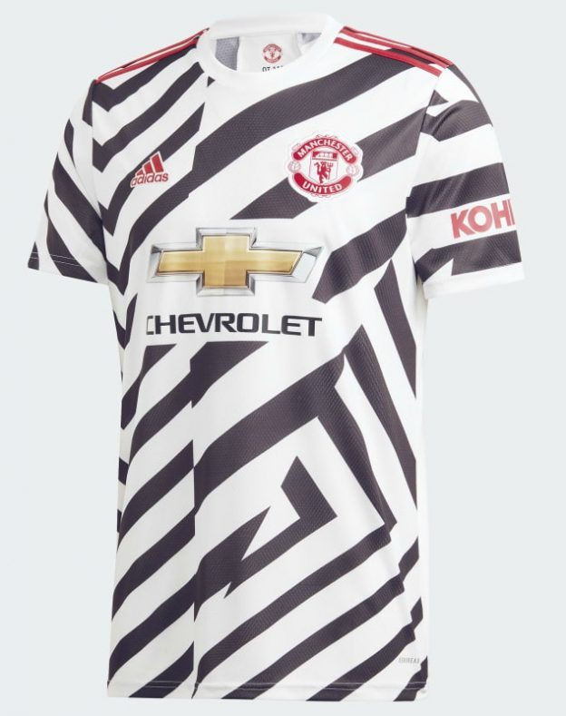 new manchester united zebra jersey 2020 2021 mufc third shirt 20 21 zigzag stripes football kit news new manchester united zebra jersey