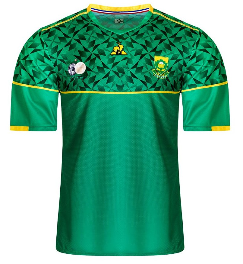 Green South Africa Away Soccer Jersey 2020-2021 Le Coq Sportif
