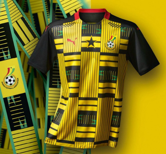 Yellow Ghana Away Soccer Jersey 2020 2021
