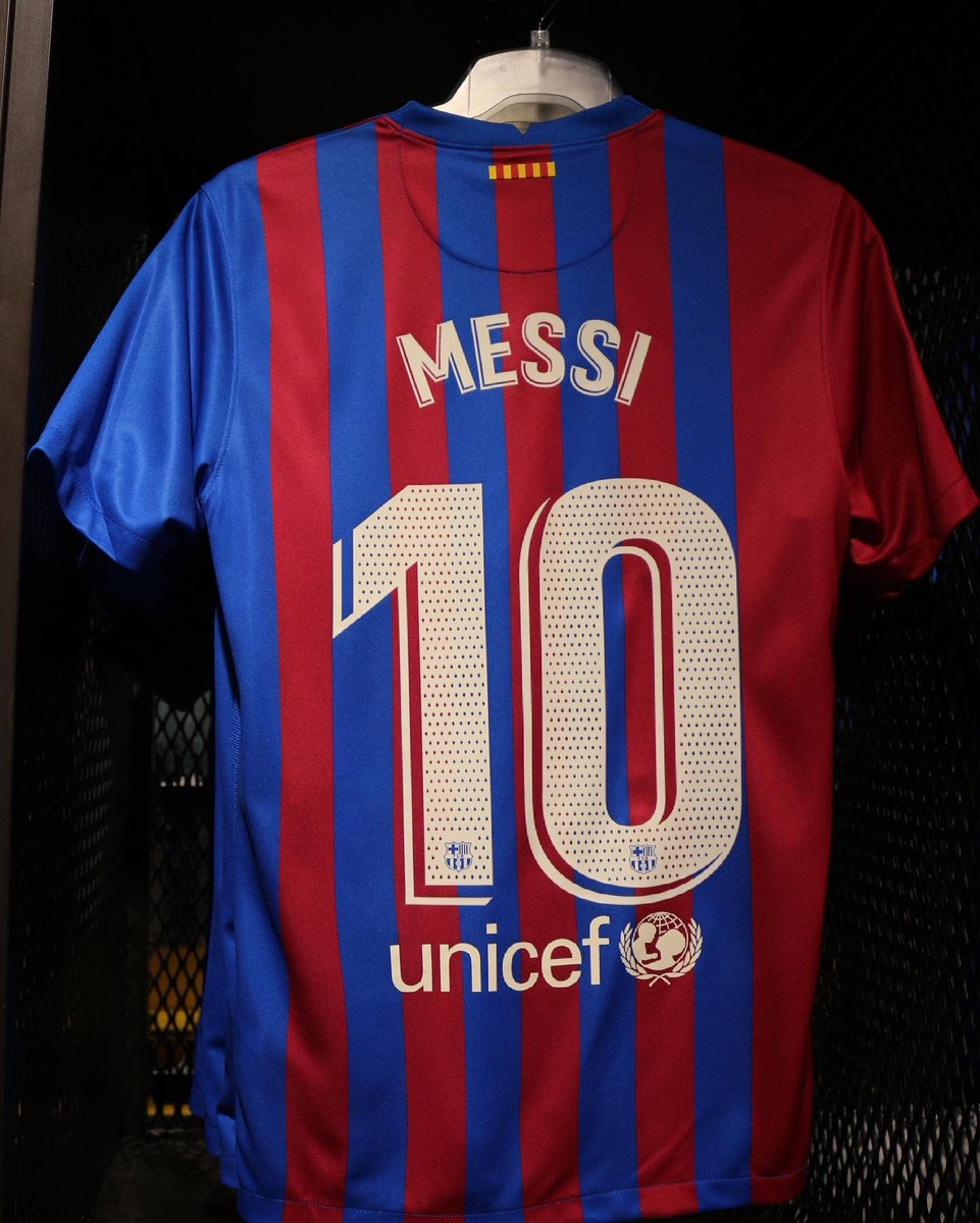 Back of Barcelona Home Shirt 21-22