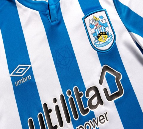 Yorkshire Rose on Huddersfield Town Shirt 2021-22