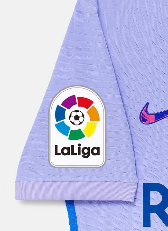 Closeup of Barcelona Away Kit 21-22
