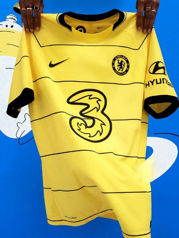 Yellow Chelsea Away Jersey 2021 2022