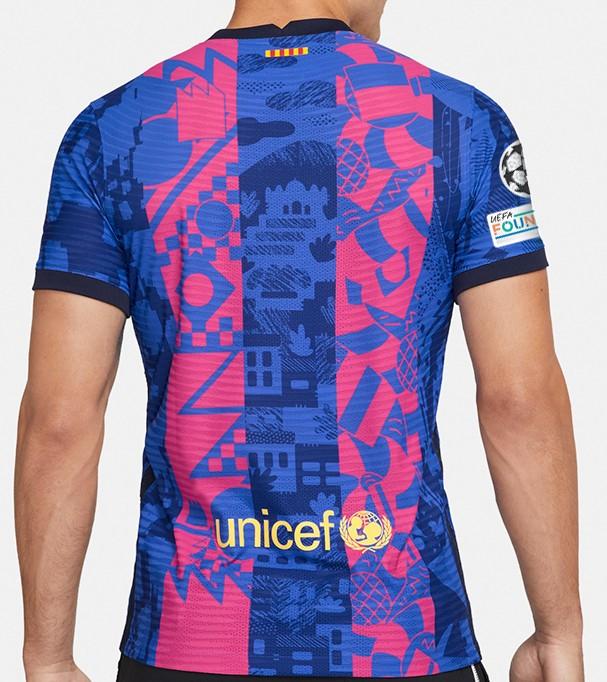 Back of Barcelona Third Kit 21-22