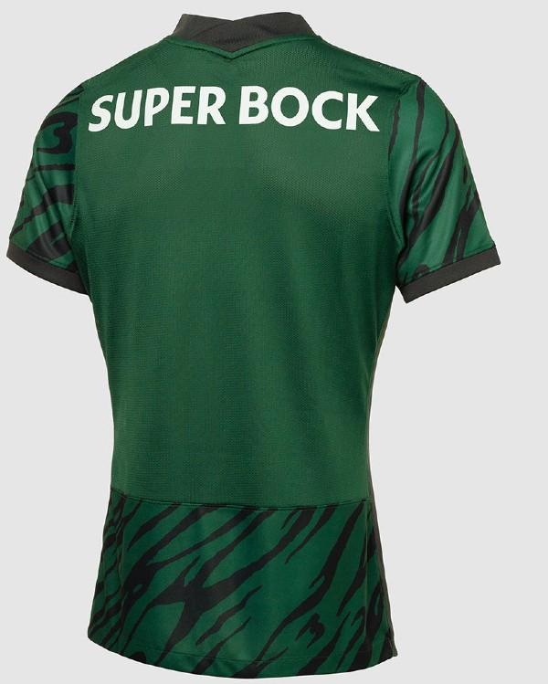 Back of Sporting Lisbon Third Shirt 21 22