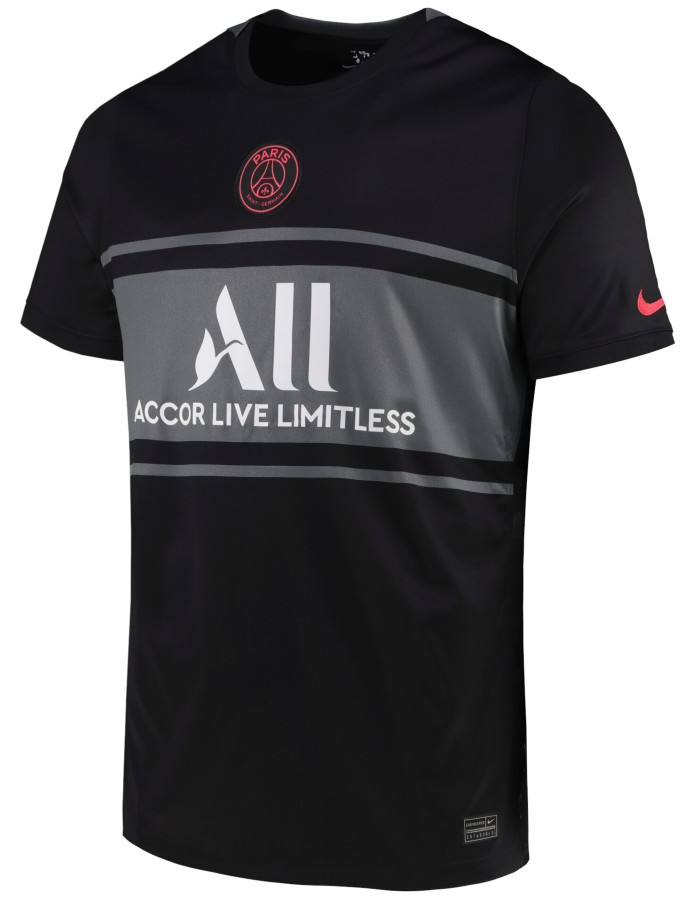 Black Grey PSG Shirt 2021 22