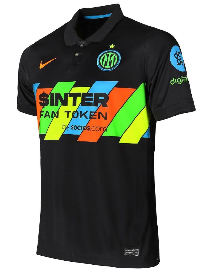 Black Inter Milan Third Shirt 2021 22