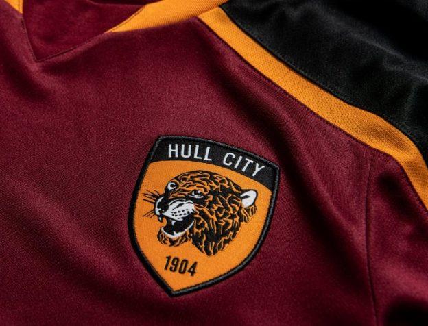 Closeup of Hull City Third Jersey 21 22