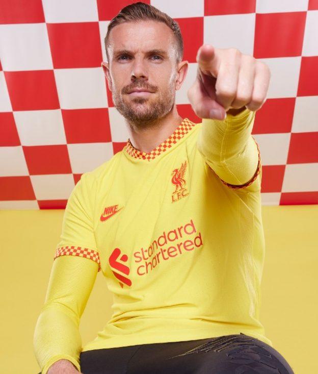Jordan Henderson LFC Third Shirt 2021 22
