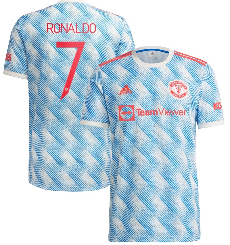 MUFC Away Shirt 2021 2022 with Cristiano 7 Number on Back