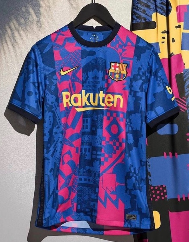 New Barca UCL Jersey 2021 22